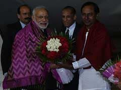 PM Modi Arrives In Hyderabad On Two-Day Visit