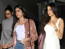 The Spotlight Followed Sridevi and Daughters Jhanvi and Khushi