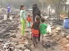 Srinagar Fire Victims Living In Plastic Tents Without Food, Heating