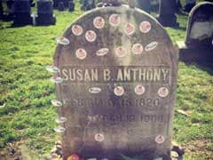 Steady Crowd Marks Election Day At Susan B Anthony's Grave