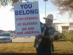 'You Belong. Stay Strong. Be Blessed': A Texas Man's Roadside Message To Muslims