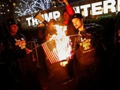 Donald Trump Flag-Burning Tweet Leads Activists To Burn Some Flags In New York