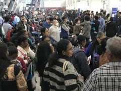 Fog Chaos As Flights Are Delayed, Large Crowds At Delhi Airport