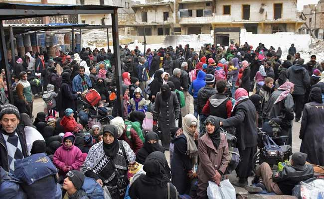 50,000 Pour Out Of East Aleppo As Syria Army Advances