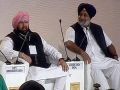 Amarinder Singh And Sukhbir Badal Predict Seats For Parties In Punjab Polls