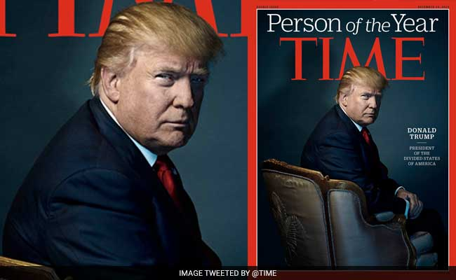 US President-elect Donald Trump declared TIME Person of the Year.