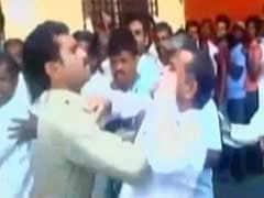 Caught On Camera: Cop Slaps Ex-Armyman In Bank Queue In Karnataka