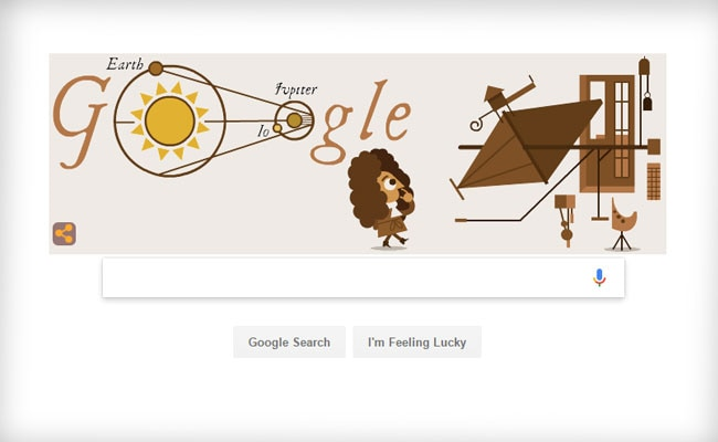 Google Doodle celebrates 340th anniversary of determination of speed of light