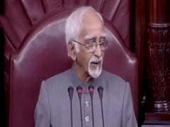 Upset Hamid Ansari On House Chaos: Peace Prevailed Only During Obituaries