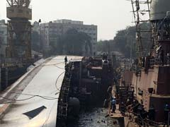 Prized Warship INS Betwa Crashes To Its Side, Divers Search For 2 Missing