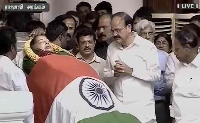 Jayalalithaa's Funeral At Chennai's Marina Beach, National Mourning Today: 10 Points