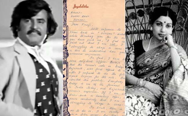 Jayalalithaa's 'Stinker' To Journalist About Turning Down Rajinikanth Film