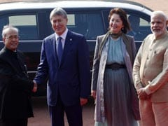 Kyrgyz President Visits India, Accorded Ceremonial Welcome At Rashtrapati Bhavan