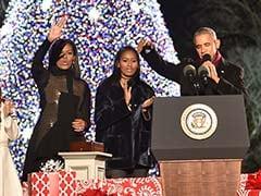 Barack Obama Lights National Christmas Tree For Final Time