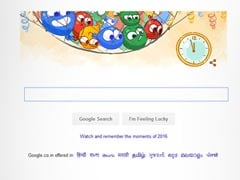 Google Doodle New Year Balloons Can't Wait For Clock To Strike 12