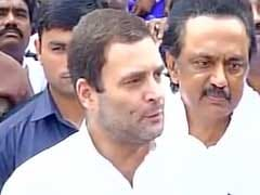 Rahul Gandhi Visits DMK Chief M Karunanidhi At Chennai Hospital, Wishes Him Speedy Recovery