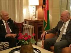 Pakistan's Foreign Affairs Advisor Sartaj Aziz Meets Afghan President Ashraf Ghani