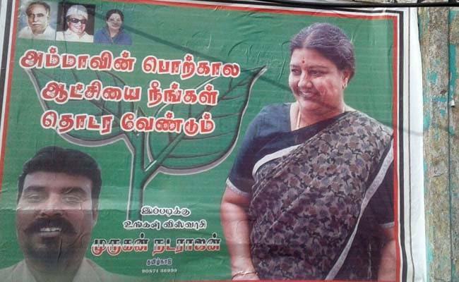 As AIADMK Urges Sasikala Natarajan To Lead, Curious Posters Make Her Case