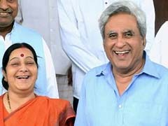 Sushma Swaraj's Husband Has The Best Responses To Tweets About His Wife