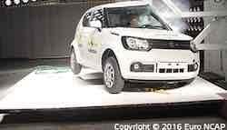 European Spec Maruti Suzuki Ignis Scores 3-Stars In Euro NCAP Crash Tests