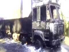 75 Trucks Burnt Down By Suspected Naxals In Maharashtra
