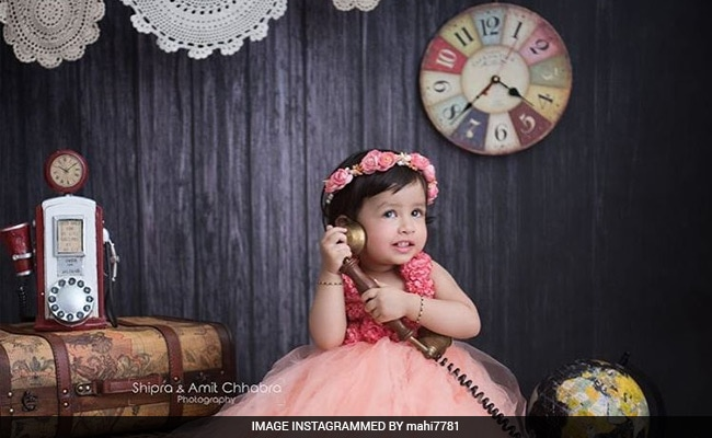 MS Dhoni Instagrammed This Pic Of Daughter Ziva, Loaded With Cuteness