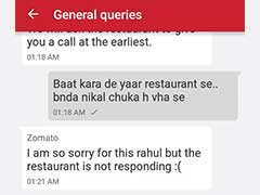 This Man's Exchange With Zomato's Customer Care Has Twitter ROFL