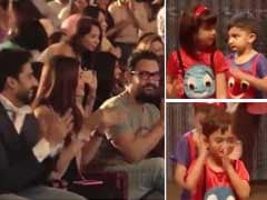 Aishwarya-Abhishek, Aamir Khan Cheer Aaradhya, Azad At Annual Day