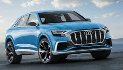 2017 Detroit Auto Show: Audi Q8 SUV Concept in Bombay Blue Showcased