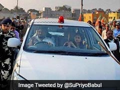 Babul Supriyo Tweets Car Attacked By 'Trinamool Goons' In West Bengal's Durgapur