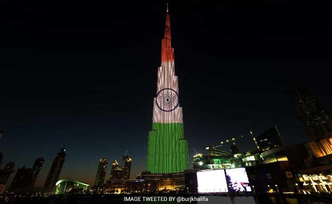 burj khalifa indian flag
