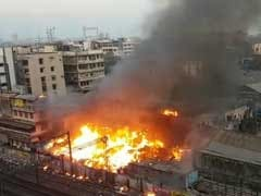 Mumbai Fire: 6 Injured In Blaze At Dana Bandar Slum, Local Train Services Hit