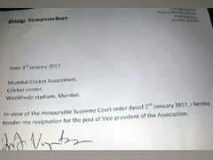 दिलीप वेंगसरकर ने भी मुंबई क्रिकेट एसोसिएशन के उपाध्यक्ष पद से इस्तीफा दिया