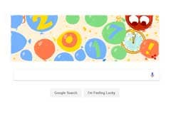Google Doodle Celebrates New Year With Balloon Drop