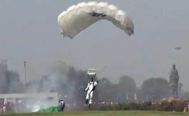 Air Force Skydiver Injured After Hard Landing At Show In Gujarat