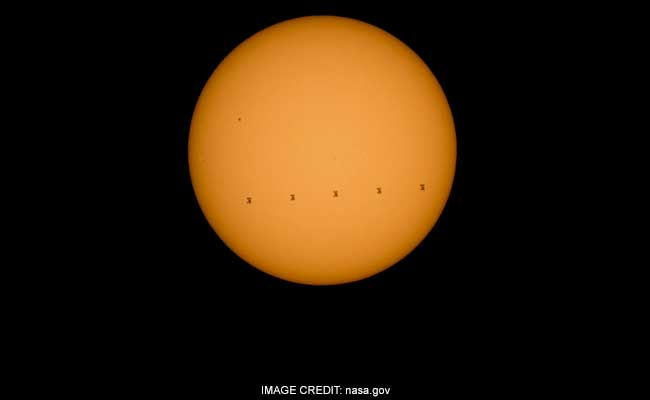 NASA Captures International Space Station Crossing Sun At 29,000 Km Per Hour