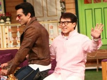 <I>Kung Fu Yoga</i>: Jackie Chan, Sonu Sood Cycle Around On The Sets Of Kapil Sharma's Show