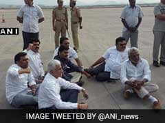 Jaganmohan Reddy Protests At Visakhapatnam Airport After Being Denied Entry Into City