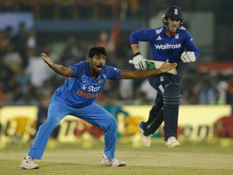 India vs England:Jasprit Bumrah removes Alex Hales.