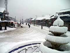 Life Remains Disrupted In Kashmir Valley After Snowfall