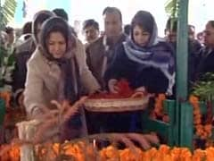 Mehbooba Mufti Visits Father's Grave On His First Death Anniversary