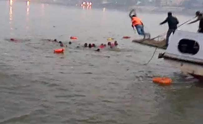 Image result for 19 Dead After Boat Carrying 40 Capsizes In River Ganga In Bihar Patna, Many Still Missing