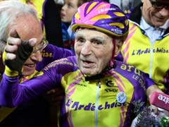 105-Year-Old Frenchman Pedals Into History Books