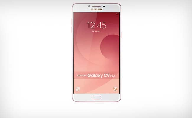 Samsung Galaxy C9 Pro has 16 MP front and rear camera with f1.9 lens.