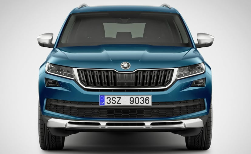 skoda kodiaq scout suv unveiled ndtv carandbike. Black Bedroom Furniture Sets. Home Design Ideas