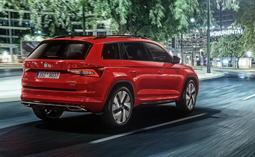 skoda kodiaq sportline revealed ndtv carandbike. Black Bedroom Furniture Sets. Home Design Ideas