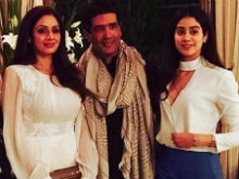Sridevi And Daughter Jhanvi Were The Stars Of Manish Malhotra's Party. See Pics