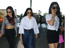 Sridevi And Daughters Jhanvi, Khushi Redefine Airport Fashion. See Pics