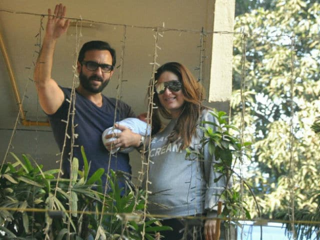 Saif Ali Khan Poses With A Sketch Of Baby Taimur