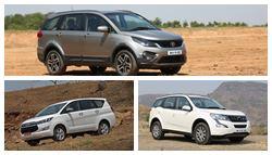Tata Hexa Vs Toyota Innova Crysta Vs Mahindra XUV500: Specifications Comparison